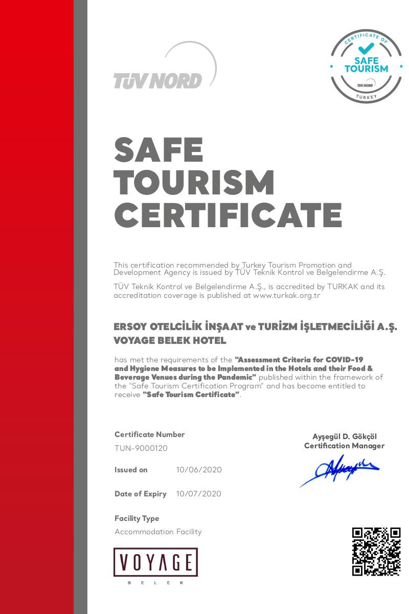 TÜV NORD'dan Güvenli Tatil Sertifikası