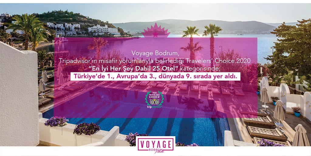 Voyage Bodrum 2020 Travelers' Choice Ödülü