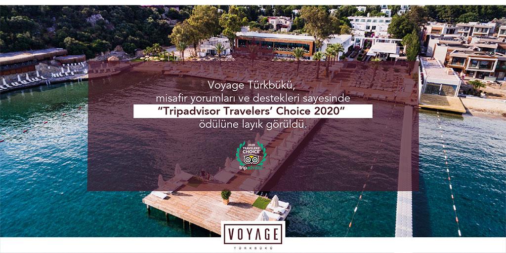 """Voyage Türkbükü, Travelers' Choice 2020"""" Ödülü"""